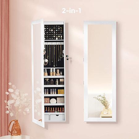 armario joyero con espejo