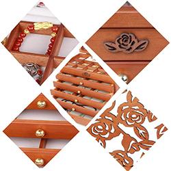 porta joyas de madera
