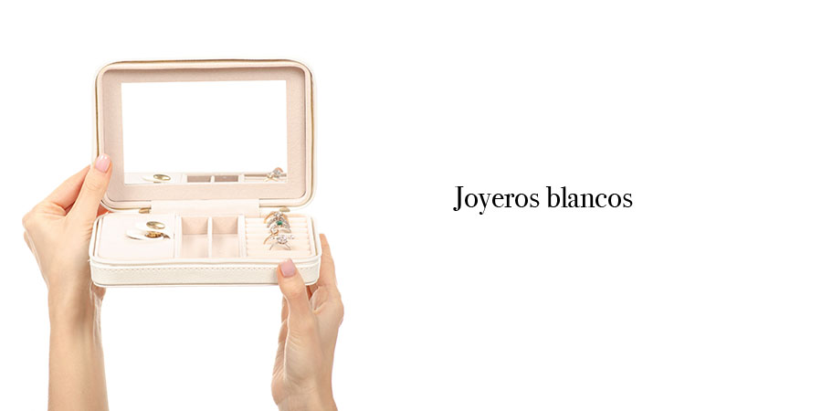 espejo joyero blanco