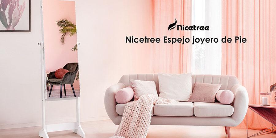 Nicetree Espejo joyero de Pie